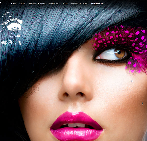 Alyssa-makeup web site by emasai.com