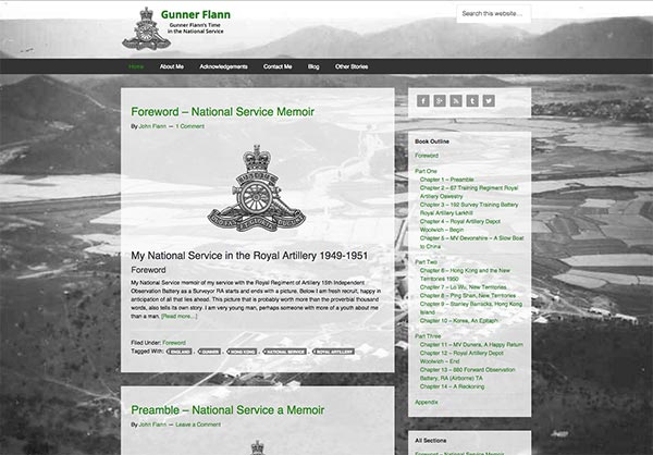 Gunner Flann site redesign