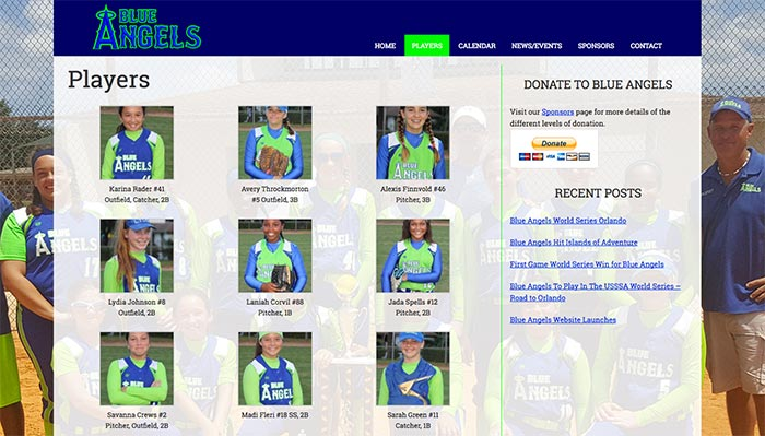 Blue Angels Fastpitch site by emasai
