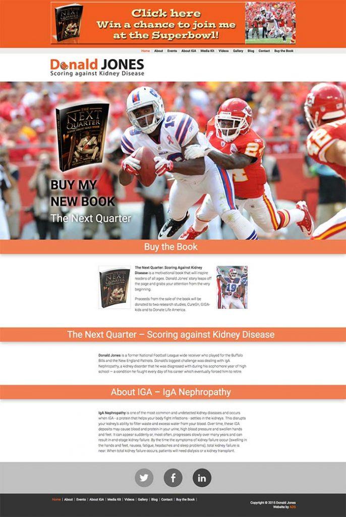 Donald Jones website