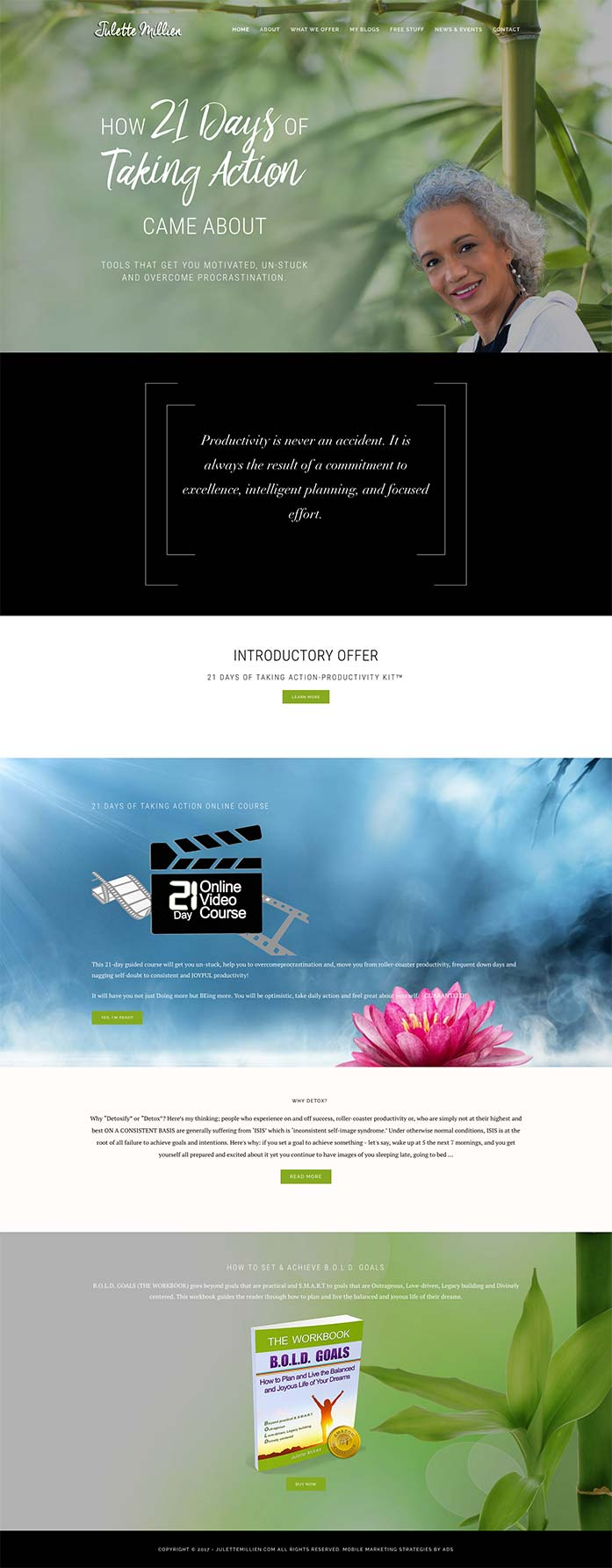 julette Millien website redesign