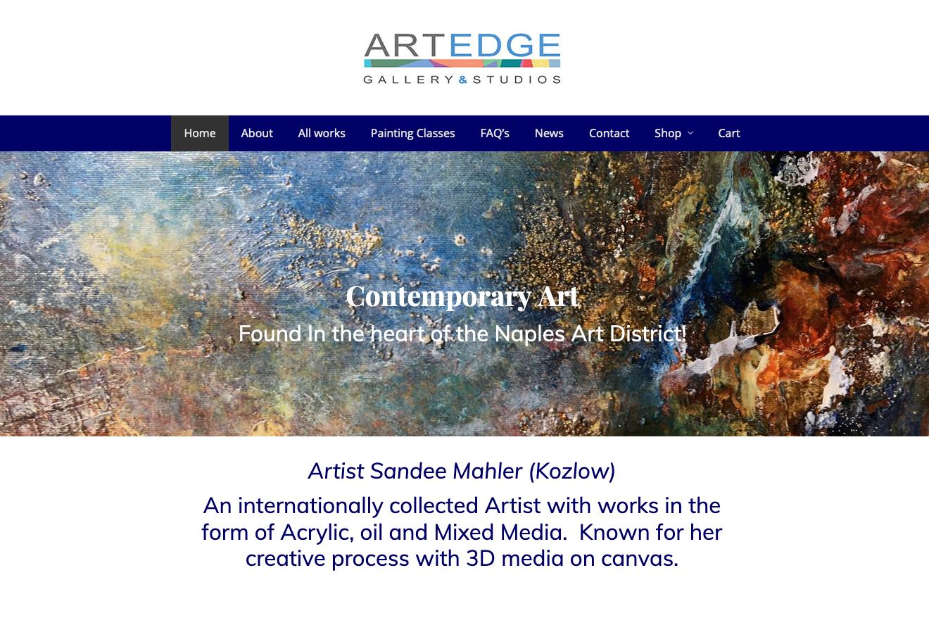Art Edge Gallery web site